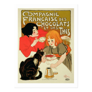 Poster Advertising the French Company of Chocolate Postcard