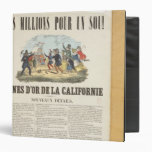 Poster advertising the gold mines in California 3 Ring Binders