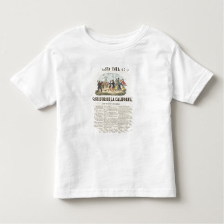 Poster advertising the gold mines in California Toddler T-shirt