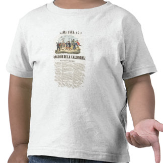 Poster advertising the gold mines in California T-shirt