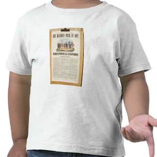 Poster advertising the gold mines in California Shirts