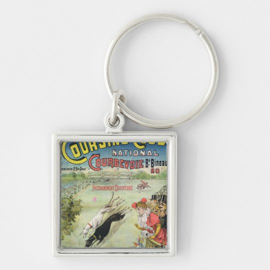 Poster advertising the opening of Coursing Keychain