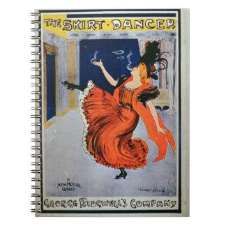 Poster advertising 'The Skirt Dancer', performed b Spiral Notebook