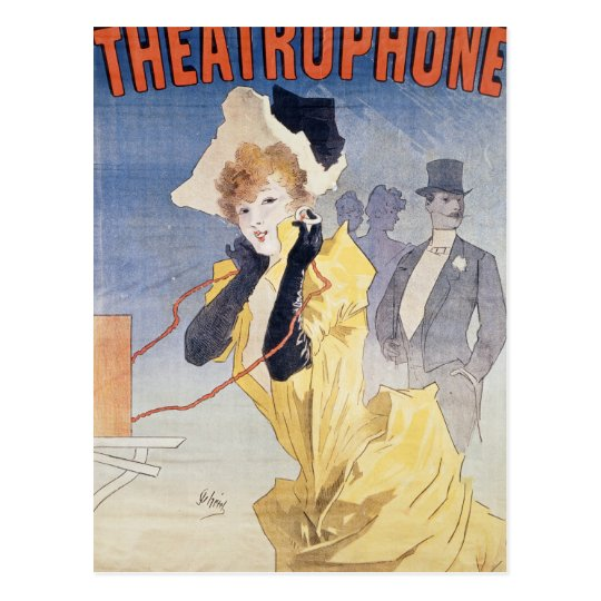 Poster Advertising the 'Theatrophone' Postcard