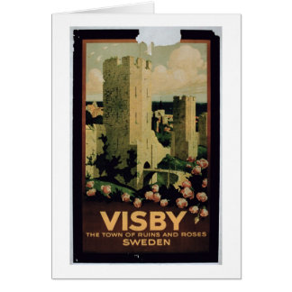 Poster advertising the town of Visby, Sweden (colo Card