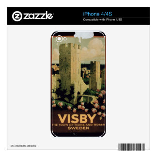 Poster advertising the town of Visby, Sweden (colo Decals For The iPhone 4