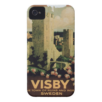 Poster advertising the town of Visby, Sweden (colo iPhone 4 Case