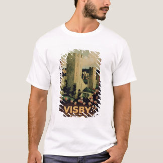 Poster advertising the town of Visby, Sweden (colo T-Shirt