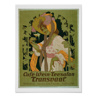 Poster advertising 'Transvaal' a Coffee, Wine and