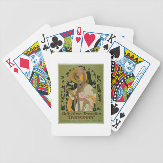 Poster advertising 'Transvaal' a Coffee, Wine and Bicycle Playing Cards