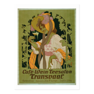 Poster advertising 'Transvaal' a Coffee, Wine and Postcard