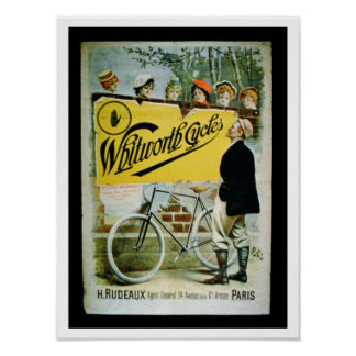 Poster advertising 'Whitworth Cycles', Paris (colo