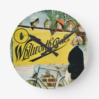 Poster advertising 'Whitworth Cycles', Paris (colo Round Clock