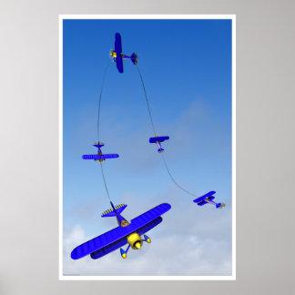 Poster aeroacrobacia de la maniobra del Hammerhead Póster