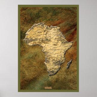 poster AFRICANO del arte del MAPA 3D