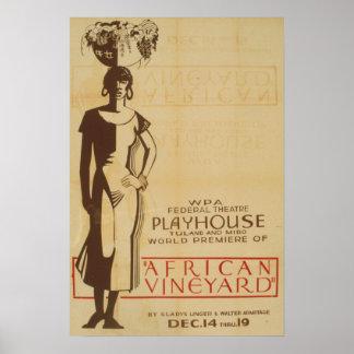 Poster africano del teatro de WPA del vintage del