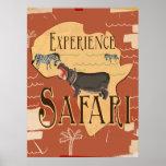 Poster africano del viaje del vintage del safari