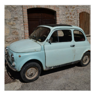 Poster age Fiat 500 - photography