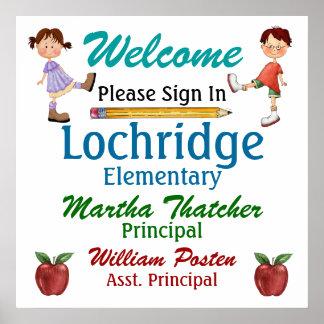 Poster agradable de la escuela del profesor - SRF
