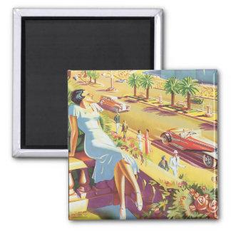 Poster agradable del viaje del vintage imanes para frigoríficos