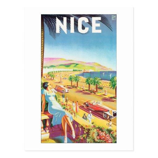 Poster agradable del viaje del vintage tarjeta postal