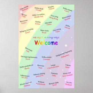 Poster agradable multilingüe del ESL