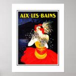 Poster Aix-les-Bains del viaje del vintage