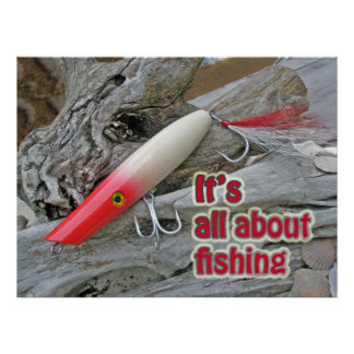 "Poster AJS Lure Popper ""It's All About Fishing"""