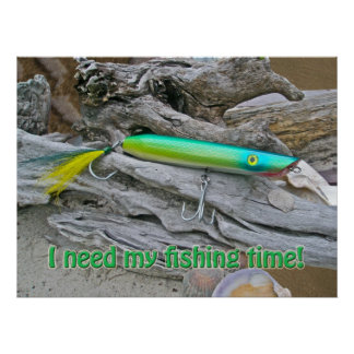 Poster AJS Popper Water Dragon Fishing Time