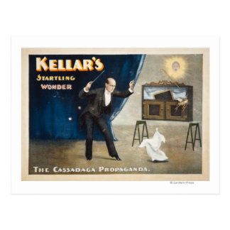 Poster alarmante de la magia de la maravilla de postal