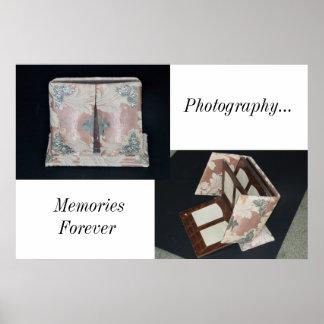 Poster/álbum de foto antiguo/memorias póster