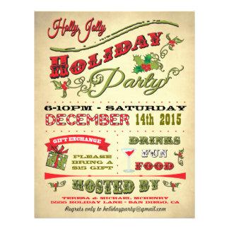 "Poster alegre de la celebración de días festivos folleto 8.5"" x 11"""