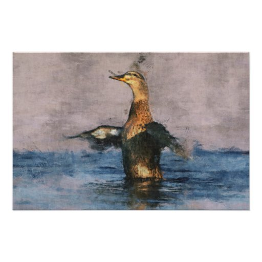 Poster alegre del pato
