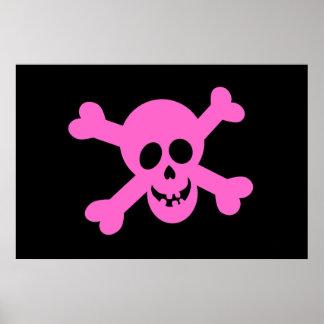 Poster alegre rosado de Rogelio