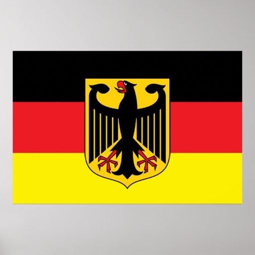 Poster alemán de la bandera