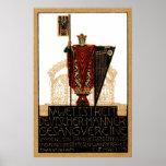Poster alemán de la sociedad coral 1913