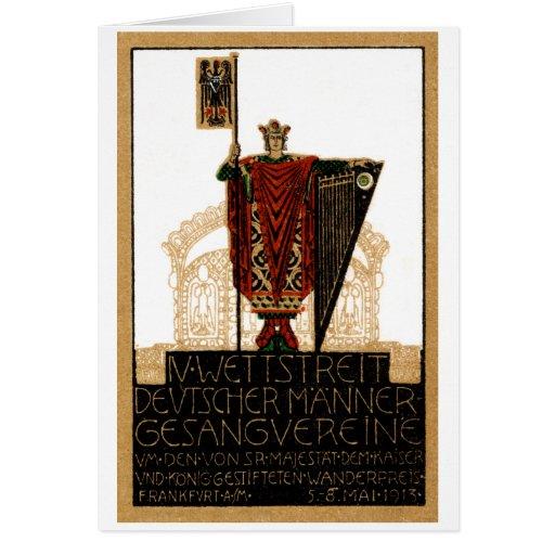 Poster alemán de la sociedad coral 1913 tarjeta pequeña
