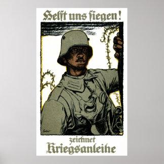 Poster alemán del enlace de guerra de WWI