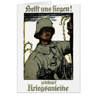Poster alemán del enlace de guerra de WWI Tarjeta De Felicitación