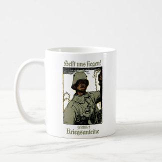 Poster alemán del enlace de guerra de WWI Taza Clásica