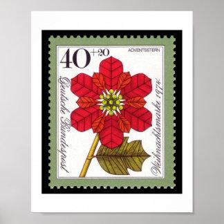 Poster alemán del sello del navidad del vintage