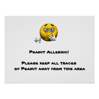 Poster alérgico del cacahuete