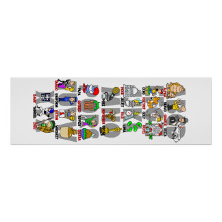 Poster alfa del alfabeto del bravo (OTAN fonética)