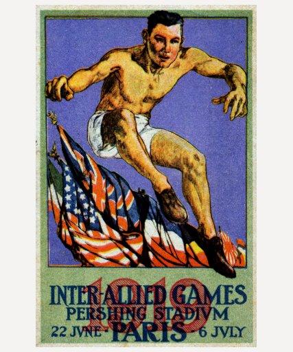 Poster aliado de 1919 juegos camisetas