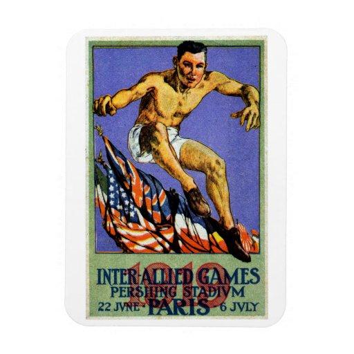 Poster aliado de 1919 juegos iman