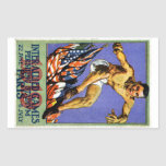 Poster aliado de 1919 juegos pegatina rectangular