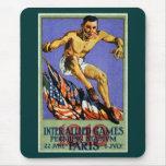 Poster aliado de 1919 juegos tapete de ratones