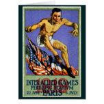 Poster aliado de 1919 juegos tarjetón