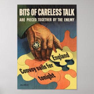 Poster aliado de esfuerzo de la guerra