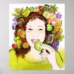 Poster Alimentos orgánicos